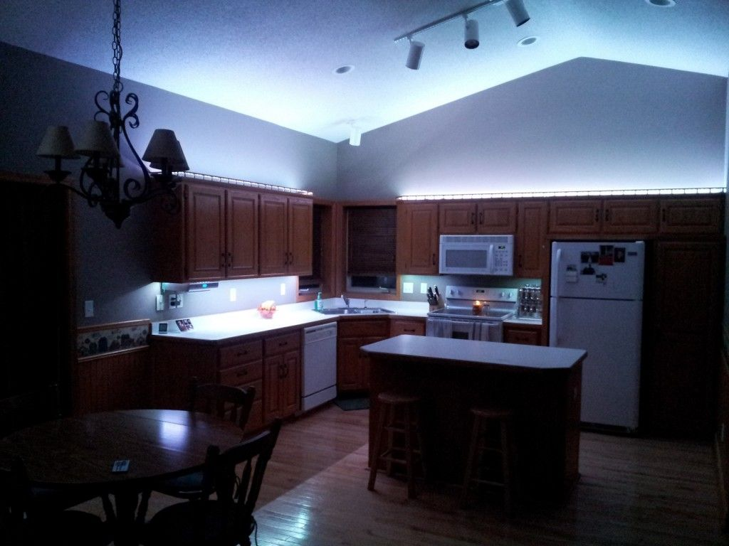 Led Kitchen Lights Led Kitchen Lighting Cool Blue Led Light Under And Up Cabinet