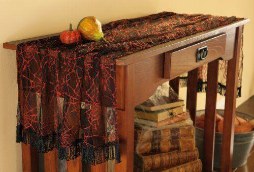 Spider Web Halloween Table Runner - Indoor halloween decorations - halloween decorations indoor ideas