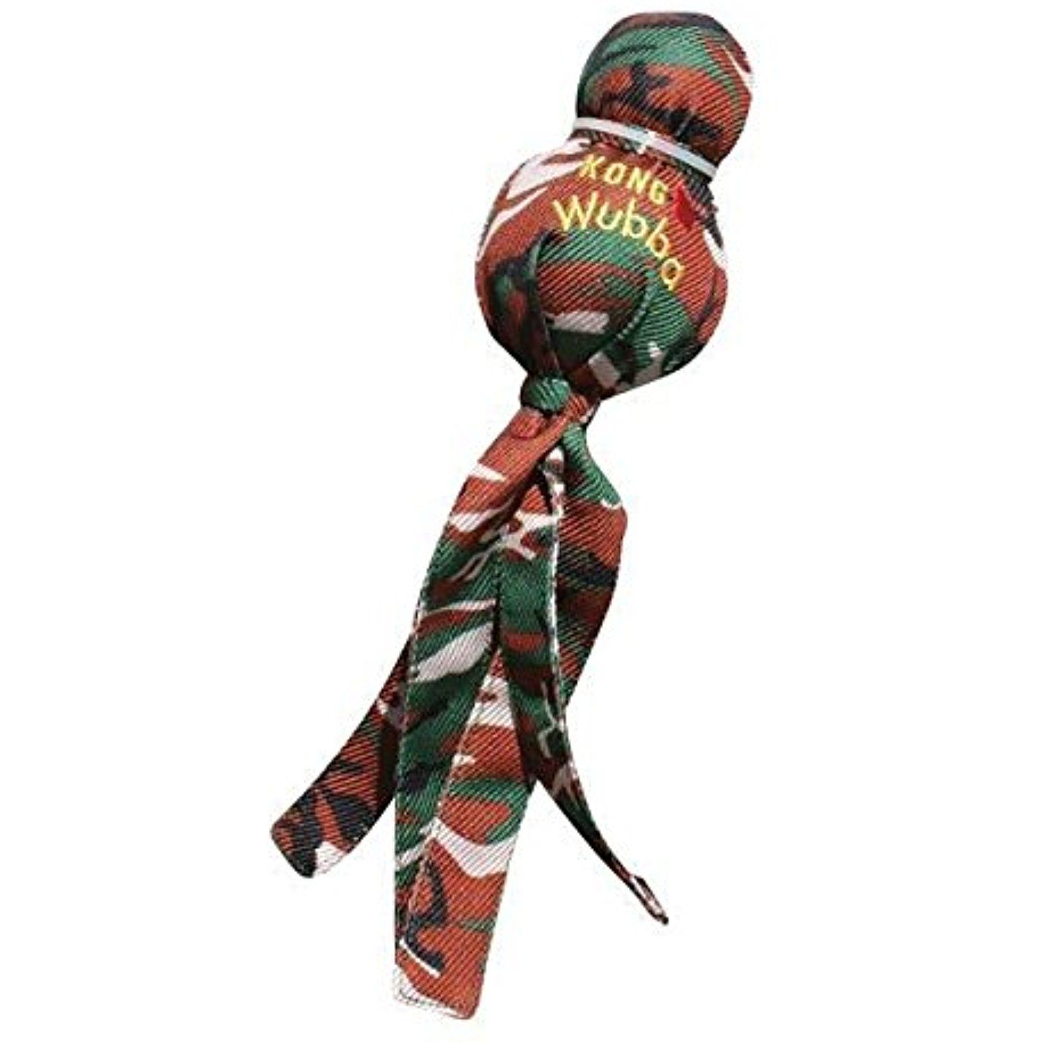 Kong Camo Wubba Interactive Tug Toss Play Squeaker Toy for Dog Puppy Choose Size