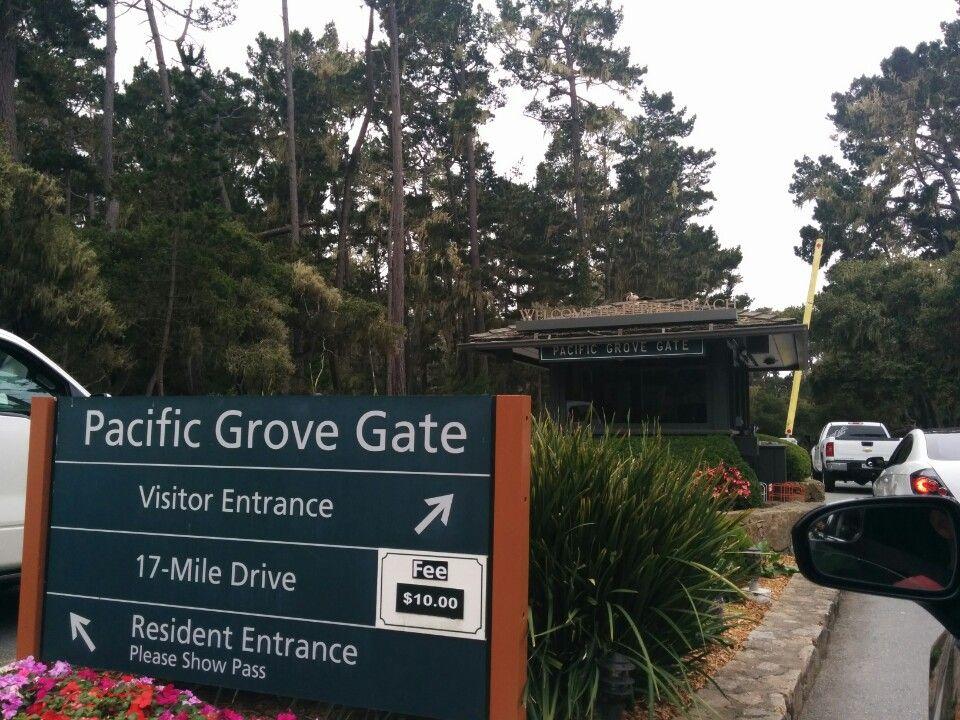 Pacific Grove Gate 17 Mile Drive Pacific Grove 17 Mile Drive Del Monte Forest