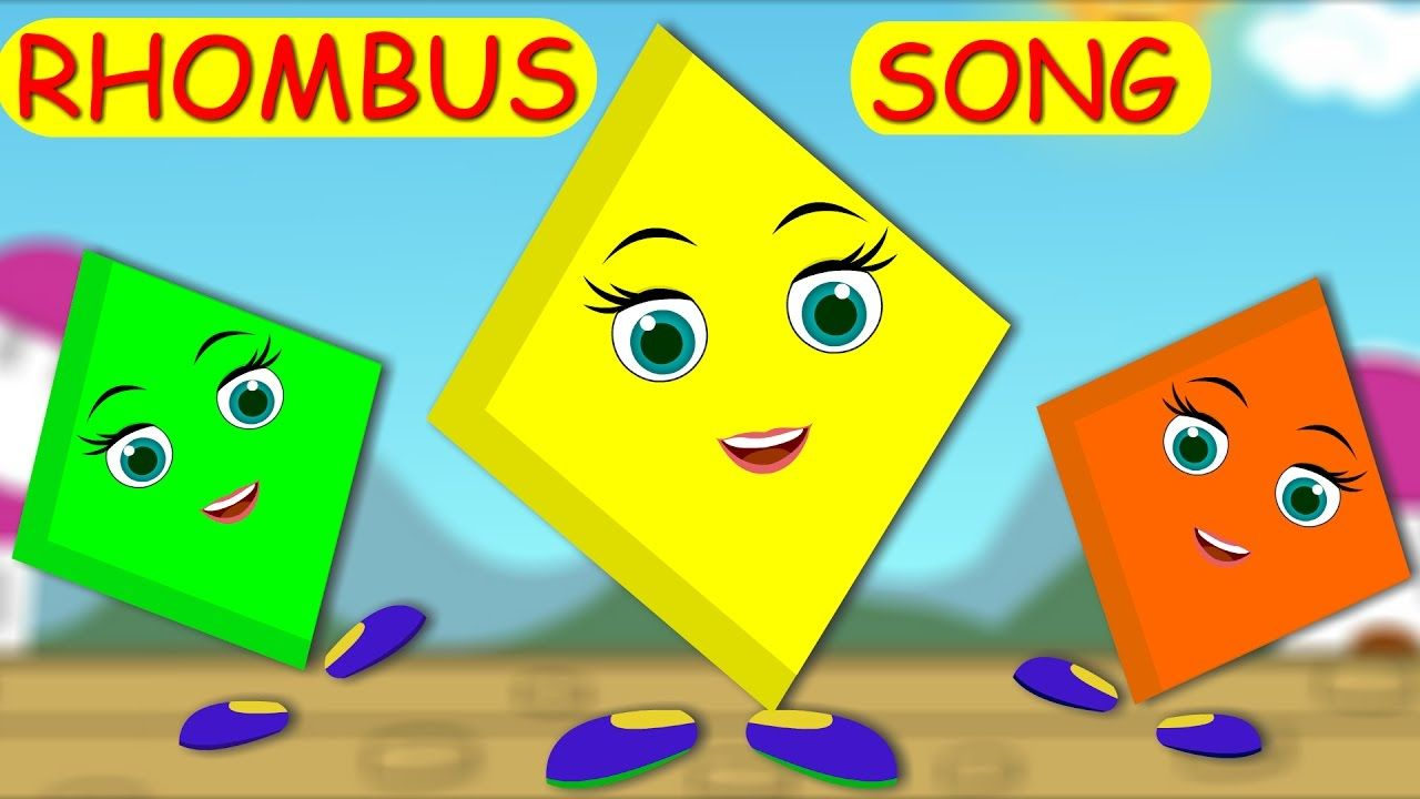 Rhombus Song The Shapes Song Rhombus Song For Kids Nursery Rhymes Kids Nursery Rhymes Shape Songs Kids Songs [ 720 x 1280 Pixel ]