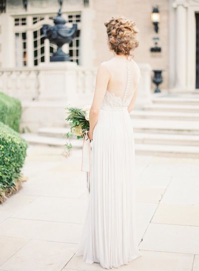 We are in awe of this dress: http://www.stylemepretty.com/2015/01/22/romantic-pastel-copper-inspiration-shoot/ | Photography: Kayla Barker - http://www.kaylabarker.com/