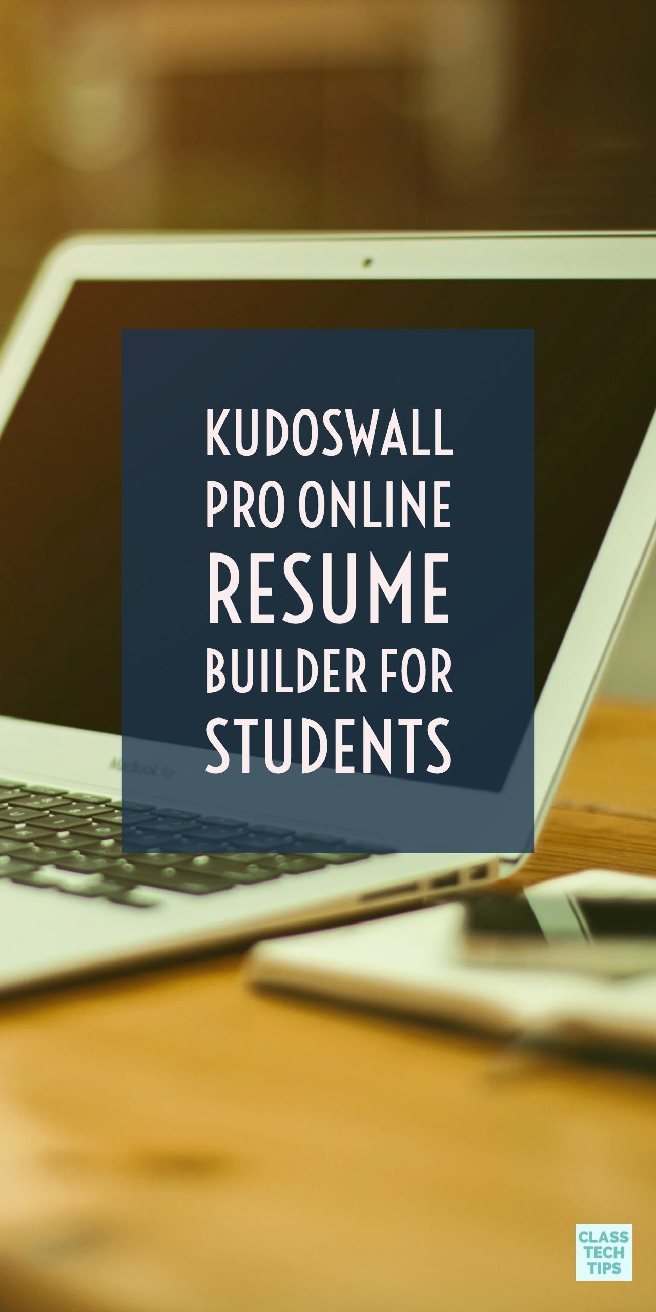 Kudoswall pro online resume builder for students online