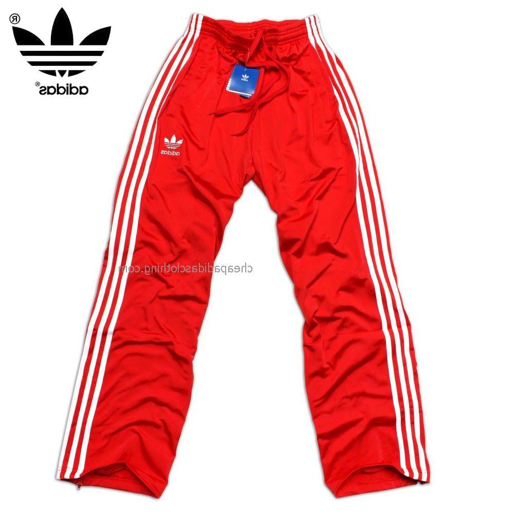 londra adidas originali mens formazione pantaloni rosso / bianco adidas