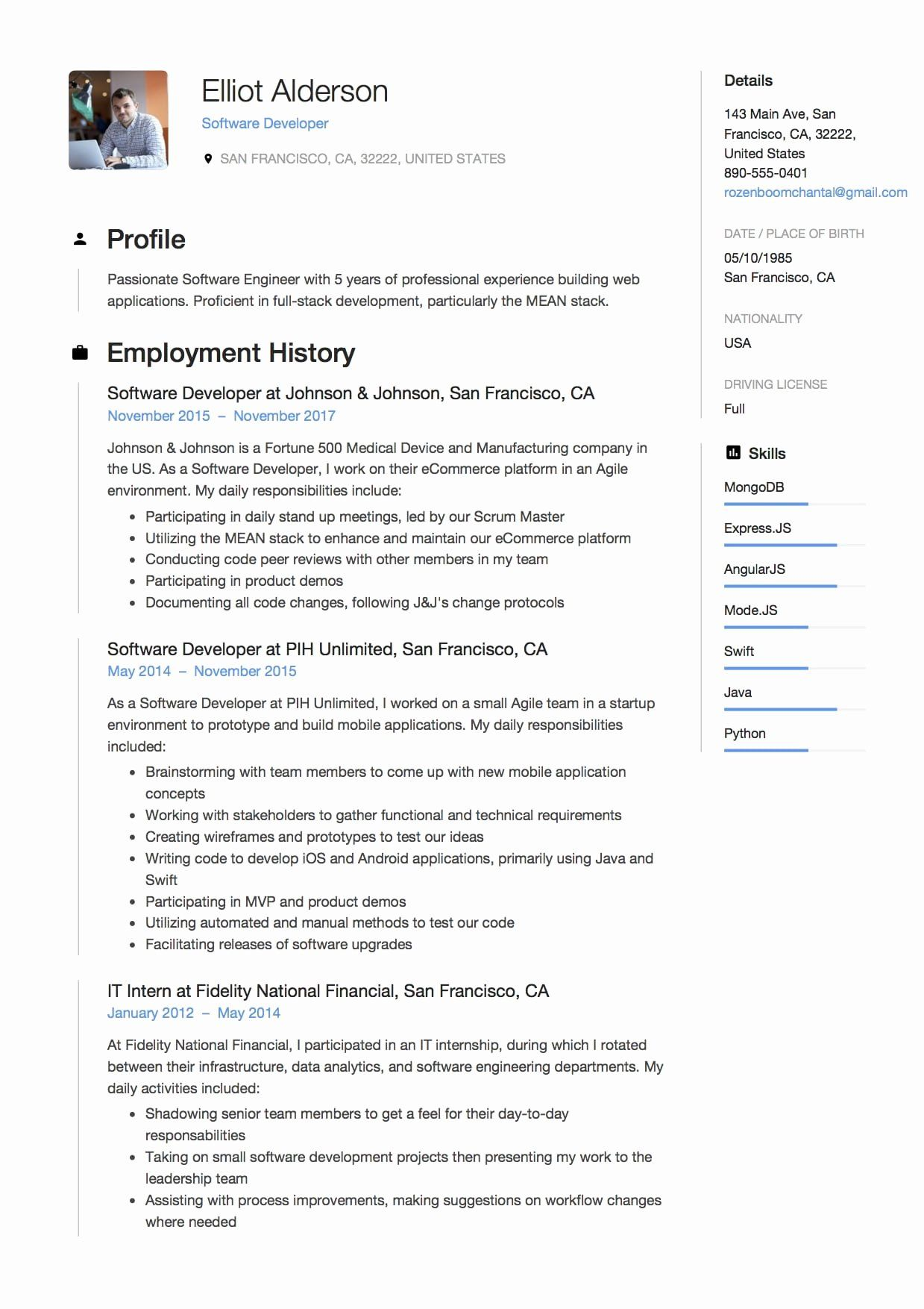 25 Full Stack Java Developer Resume Software development