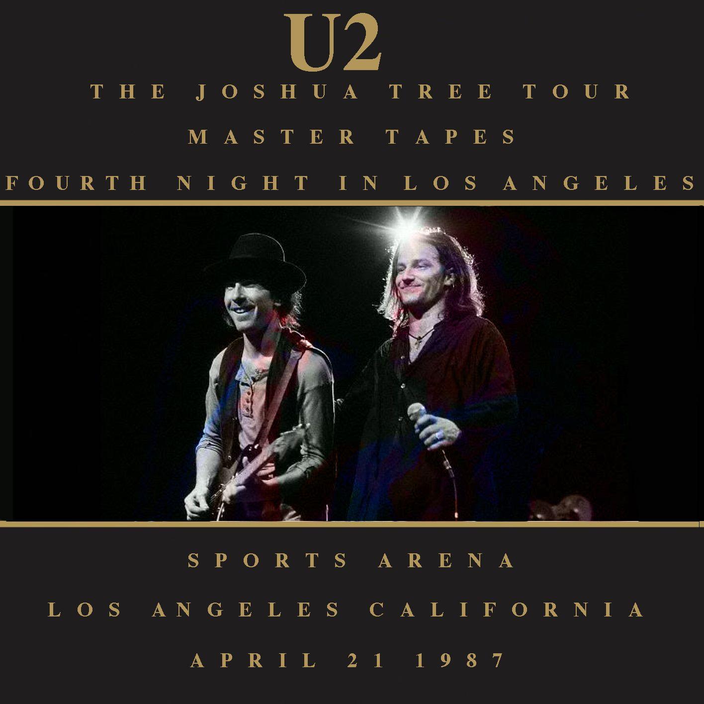 U2 -Joshua Tree Tour -21/04/1987 -Los Angeles -USA- Sports ...