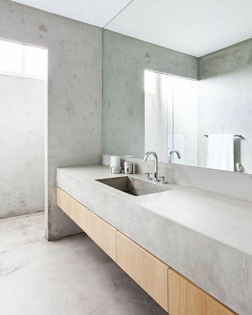 Baños muy concretos...   Lavabo de diseño, Diseño de baños ...
