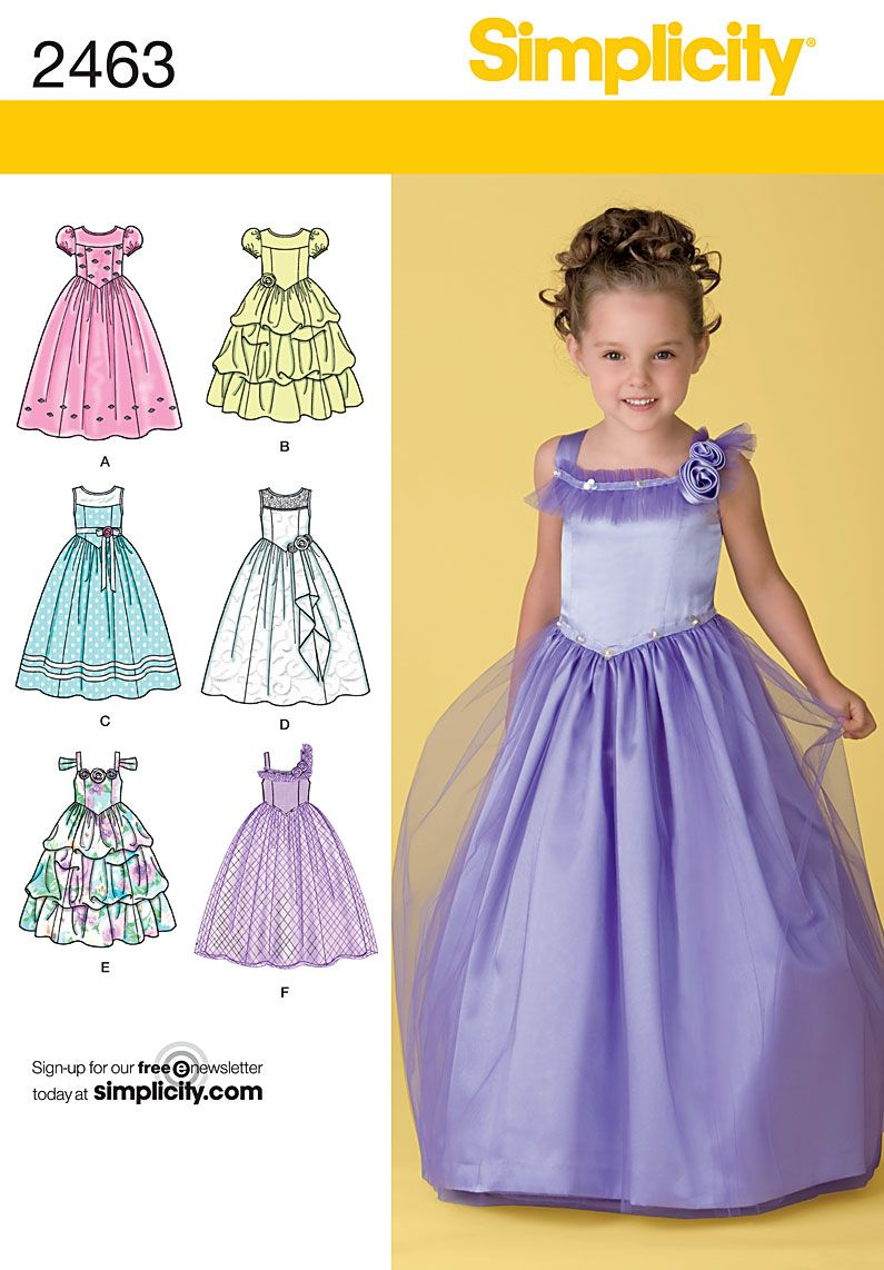 64da7f663c The perfect flower girl dress! Simplicity Pattern 2463 If I could sew I d  make one of these for Kayla. I need to learn how to sew!!! She would love  it.