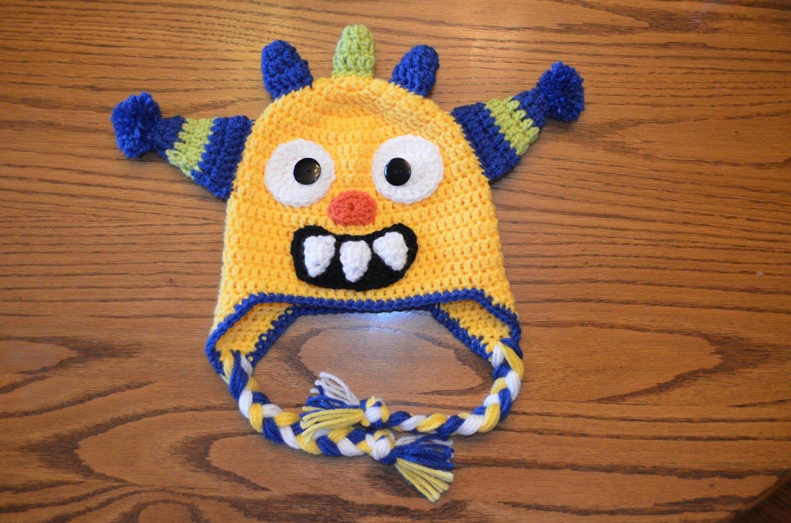 Hand Me Down Hobby: Monster Crochet Hat FREE Pattern | Crochet Hats ...