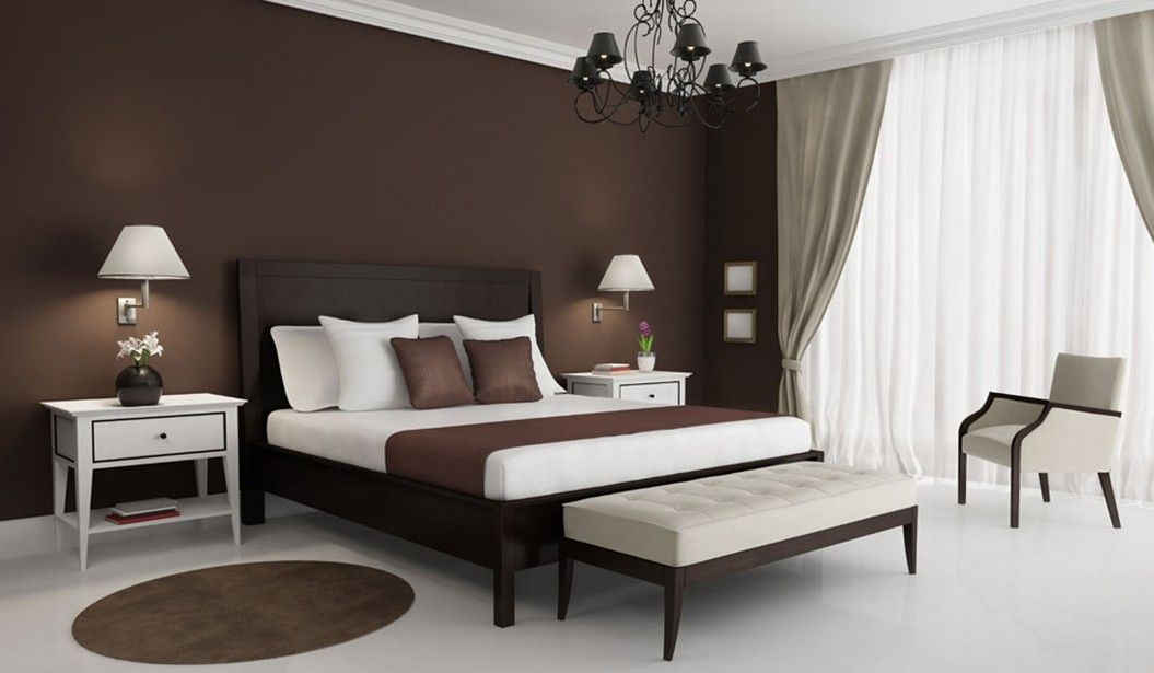 Brown Wall Decor-fresh-brown-walls-bedroom-decor-with-interesting