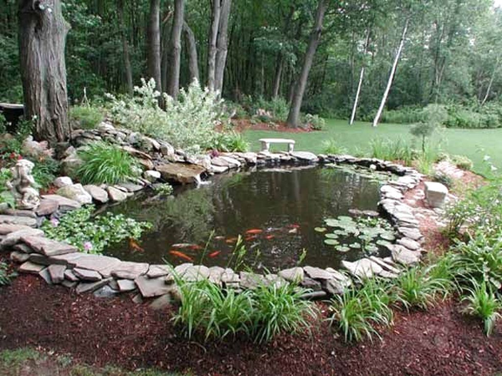 53 Favourite Pond Garden Ideas For Beautiful Backyard