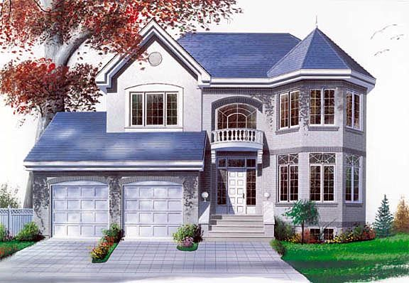 House Plan 65252   Victorian    Plan with 1996 Sq. Ft., 3 Bedrooms, 3 Bathrooms, 2 Car Garage