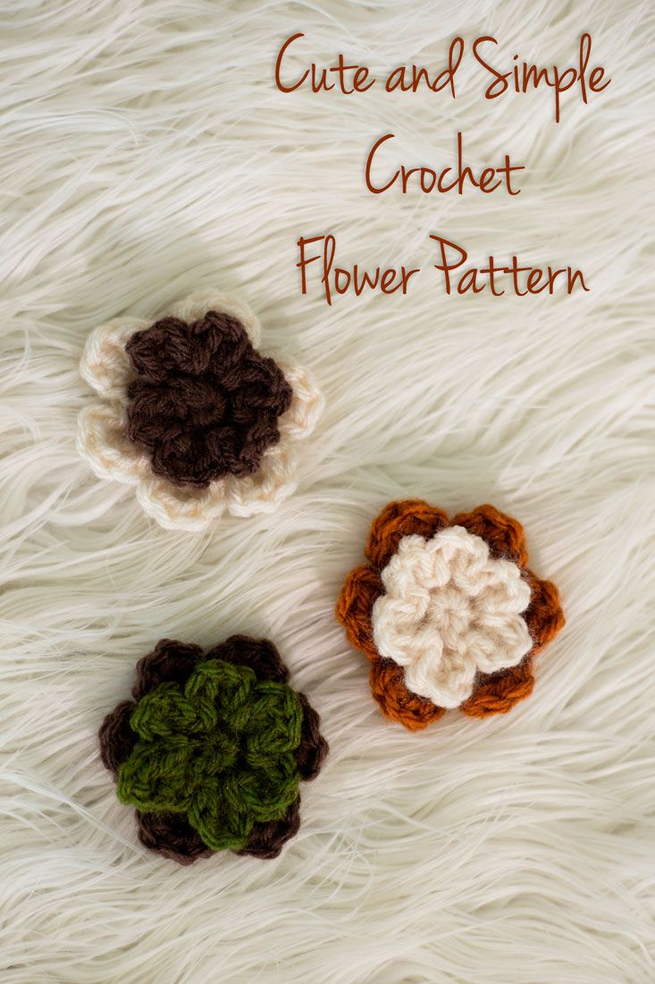 Learn to make these quick and easy crochet flowers, which make great ...