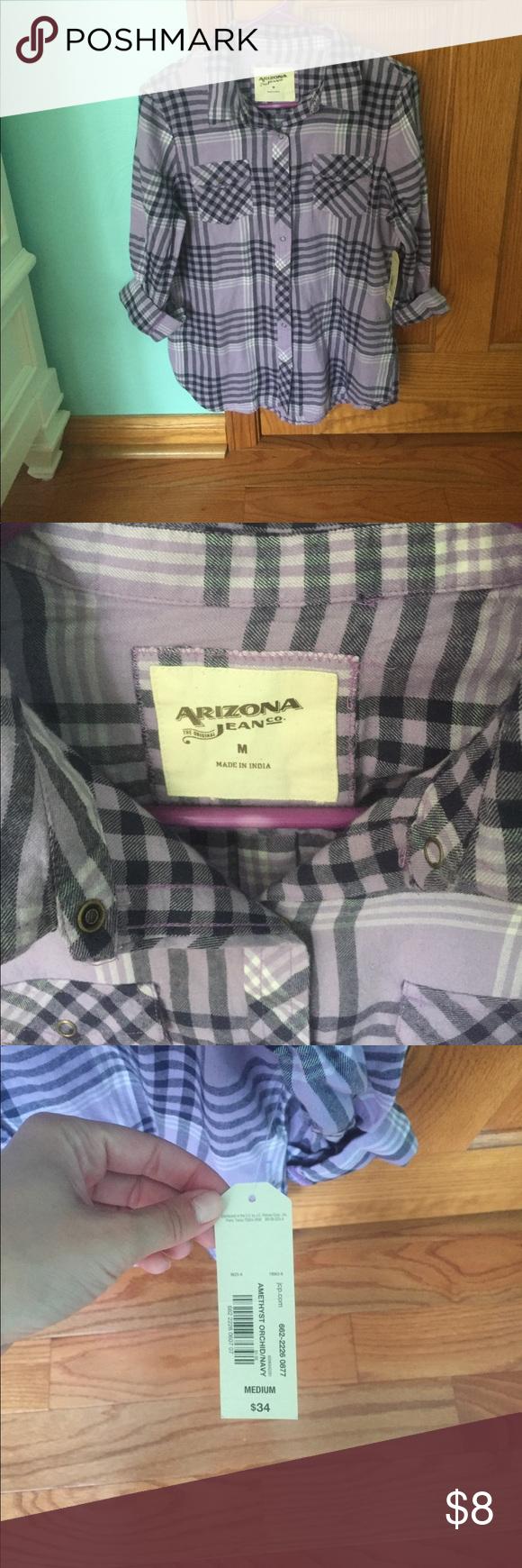 Flannel shirt with khaki pants  NWT Arizona Jeans Co Flannel shirt NWT  Arizona Keys and Shirts