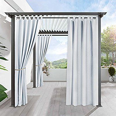Bon Amazon.com : Outdoor Indoor Patio Curtain Drapes   RYB HOME Mildew  Resistant Water Repellent Reduce Heat Loss Tab Top Blackout Curtains For  Porch, U2026