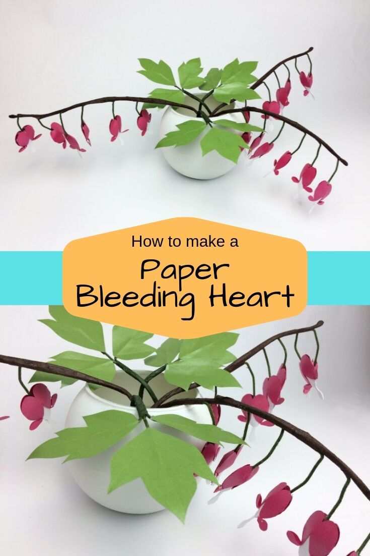 How To Make A Paper Bleeding Heart Easy Paper Flowers Paper Flower Template Paper Crafts Wedding