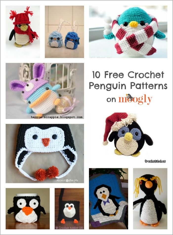 10 Free #Crochet Penguin Patterns: special collection on Mooglyblog ...