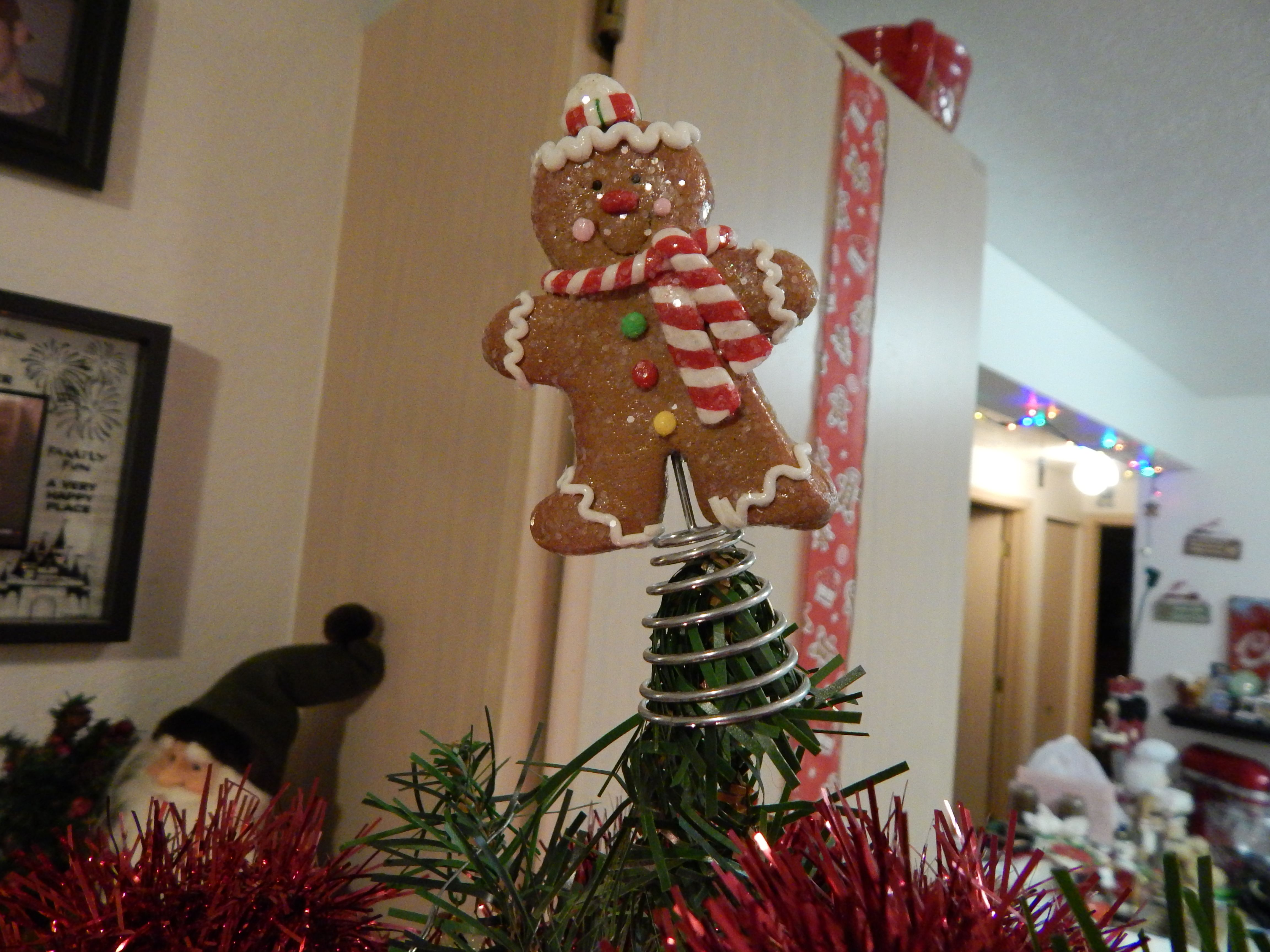 Gingerbread Man Tree Topper Christmas Ornaments Tree Toppers Holiday Decor