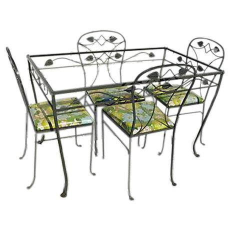 Fantastic Image Of French Country Style Garden Patio Dining Set Beutiful Home Inspiration Truamahrainfo