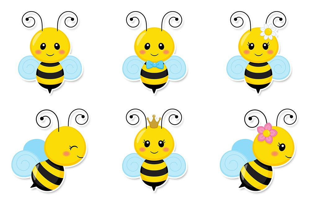 48 Recortes Abelhinhas lata e caixa | Bees, Clip art and Bee crafts