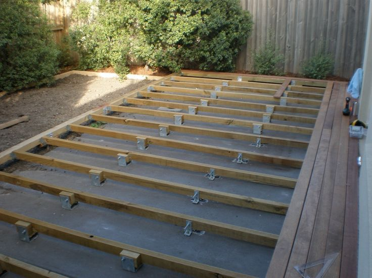 Delightful How To Build A Deck Over A Concrete Patio | Concrete Patios, Concrete And  Decking