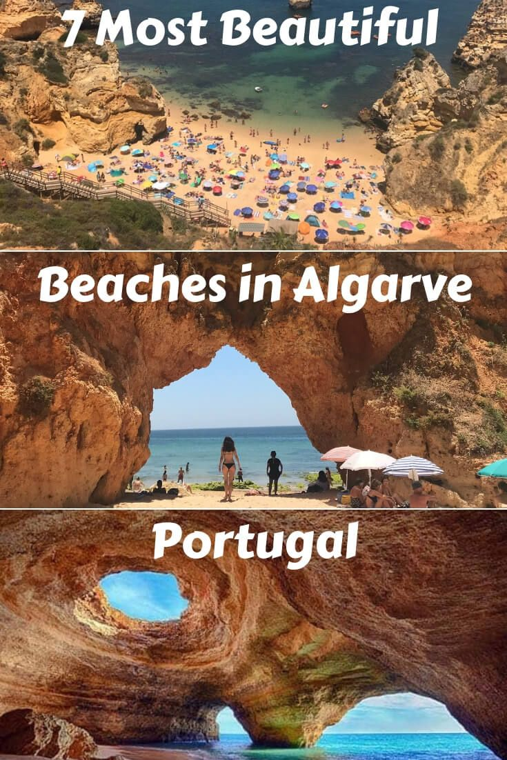 Beaches in Algarve: 7 Best & Most Beautiful Ones With a Map #visitportugal