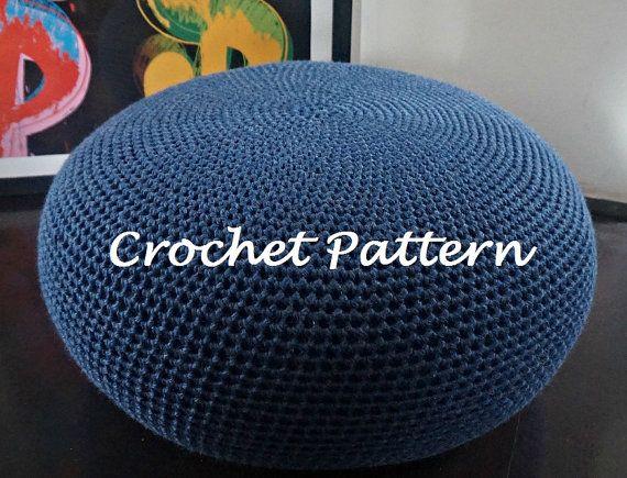 Crochet Pattern Diy Tutorial Large Crochet Pouf Poof