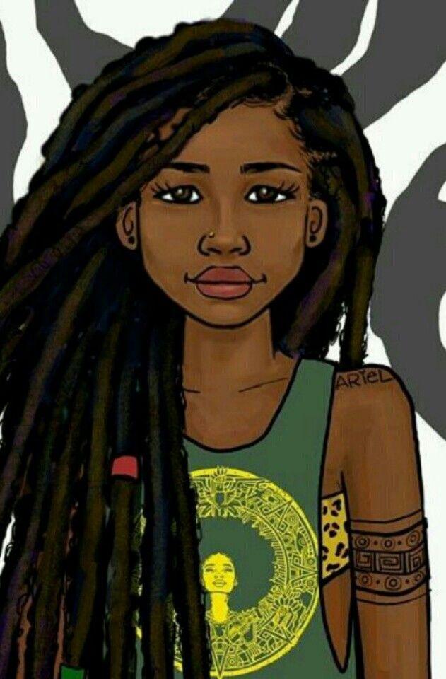 Ariel Natural Hair Painting Black Girl Dreads Black Girl Art Black Girl Magic Art