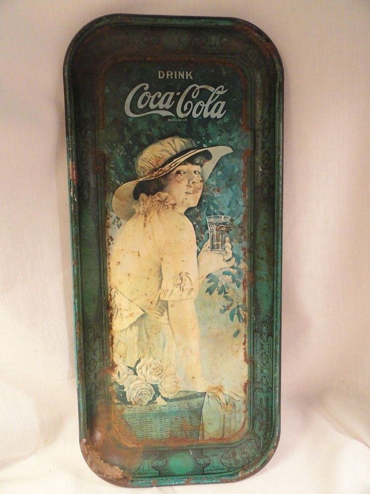 World War 1 Girl Coca Cola Serving Tray Metal AS IS 1916 | Pinterest