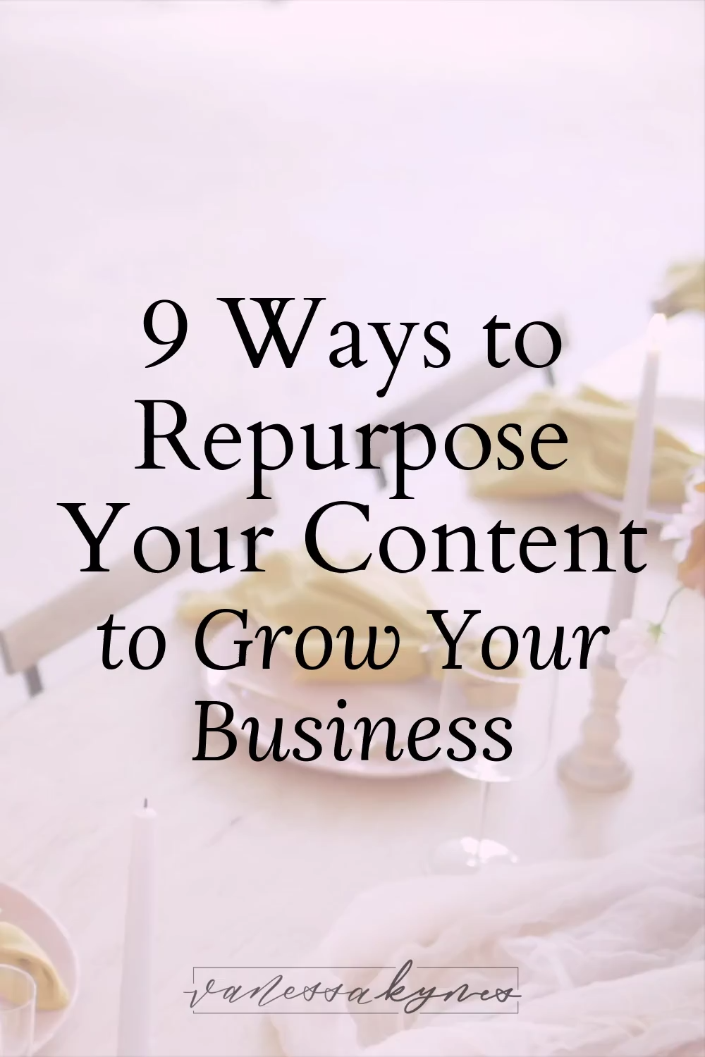 9 Ways to Repurpose your Content | Join me as we discuss 9 ways to repurpose your content so that you never run out of ways to market your business! #contentmarketing #bloggingtips #businesstips