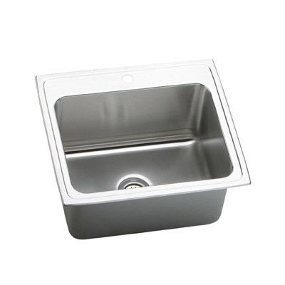 Elkay Dlr2522100 Lustertone Deep Bowl Single Basin Kitchen Sink