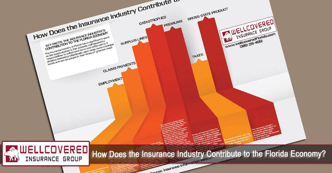 How does the insurance industry contribute to the florida