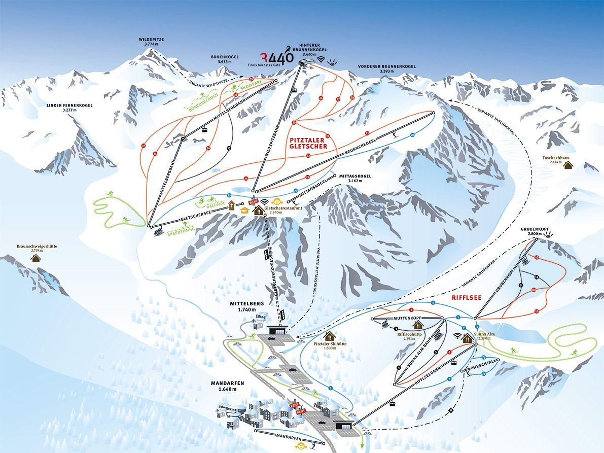 Pitztaler Gletscher Rifflsee In Tirol Gletscher Osterreich