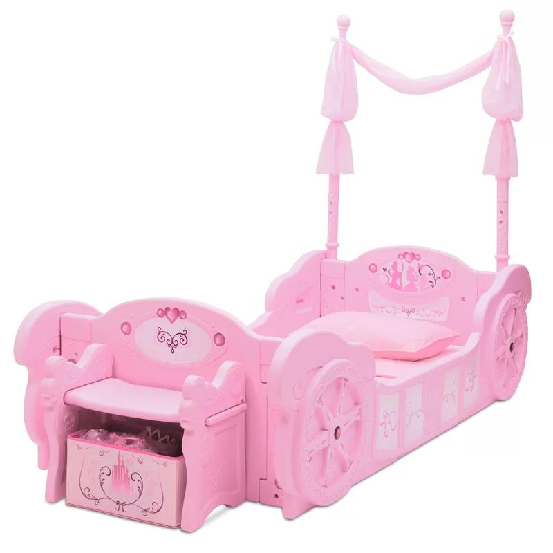Disney Princess Carriage Convertible Toddler Bed In 2020 Disney
