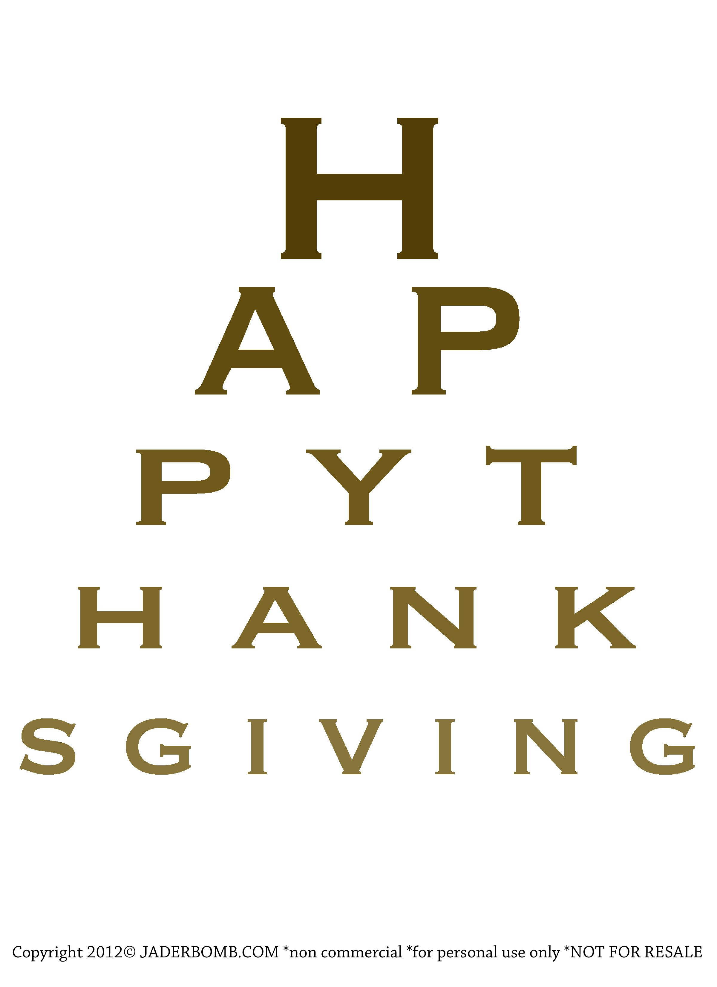 Free christmas eye chart printable happy thanksgiving free happy thanksgiving eye chart printable print this out and put geenschuldenfo Choice Image