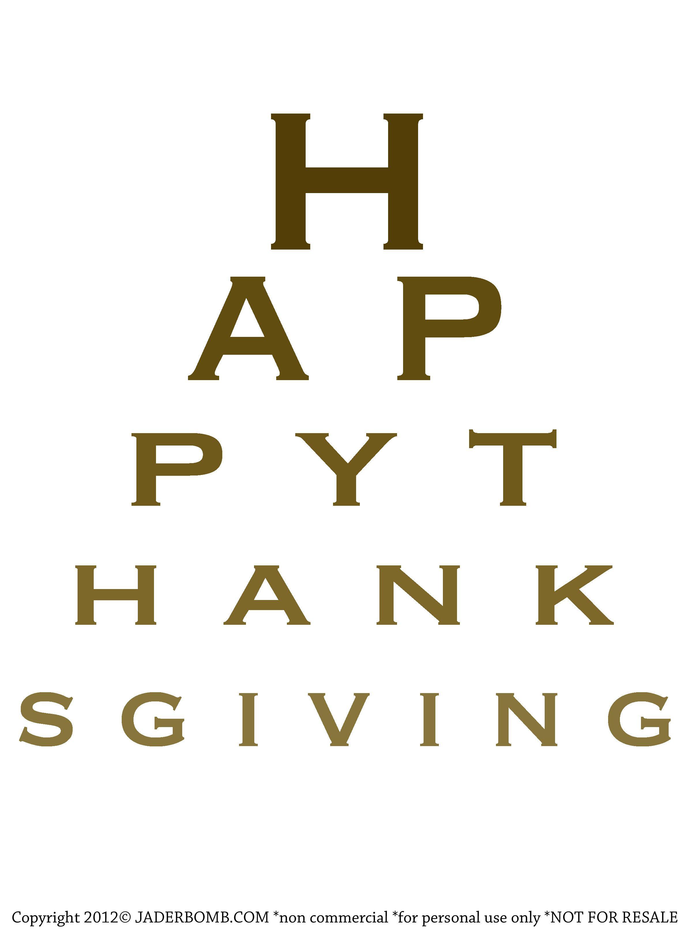 Free christmas eye chart printable happy thanksgiving free happy thanksgiving eye chart printable print this out and put nvjuhfo Choice Image