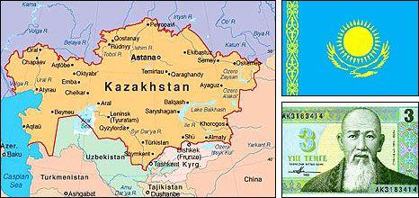 Kazakhstan map KAZAHSTAN Pinterest Asia