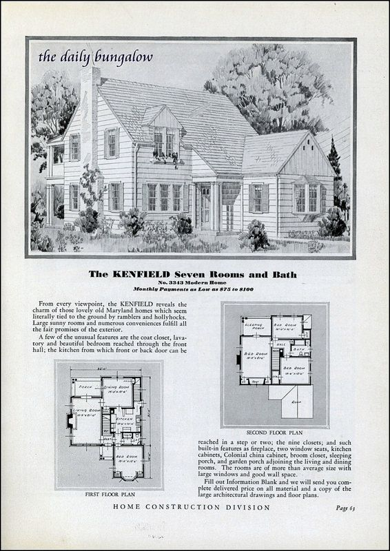 Homes Of Today Sears Kit Houses 1932 Kit Homes Vintage House Plans Craftsman House Plans