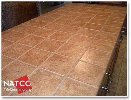 Tile Countertop With Sealed Grout