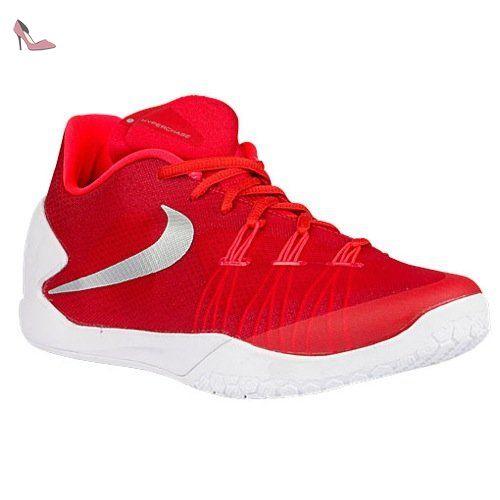 Nike Hyperchase TB, Chaussures de Sport-Basketball Homme, Rouge / Argenté /  Blanc