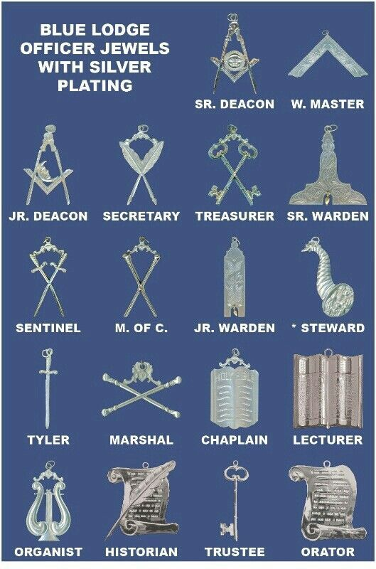 Masonic Emblems Officer Symbols Freemason Pinterest Symbols