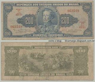 Imagens Dinheiro Nota De Cr 200 00 Duzentos Cruzeiros