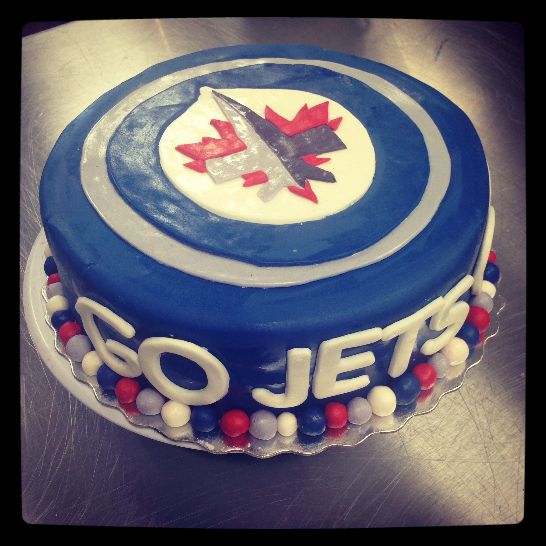 Winnipeg jets cake Bakery ideas Pinterest Cake Bakery ideas