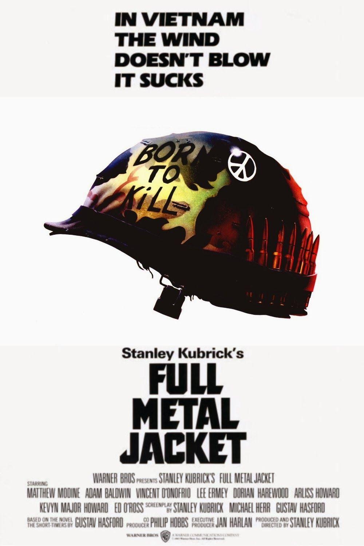 Nascido Para Matar Full Metal Jacket Stanley Kubrick Cartazes De Filmes Classicos Stanley Kubrick Lixeira Carro