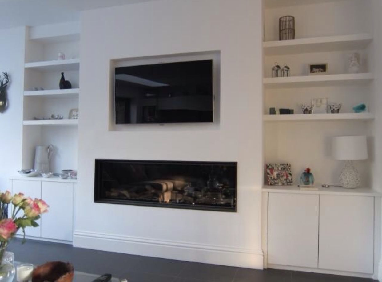 Pin By Idoia Arquitectura D Interiors On Home Fireplace Alcove Ideas Living Room Built In Shelves Living Room Home Fireplace