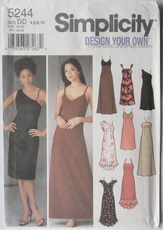 Simplicity 5244 Misses Formal Dress Pattern Design You Own Dress