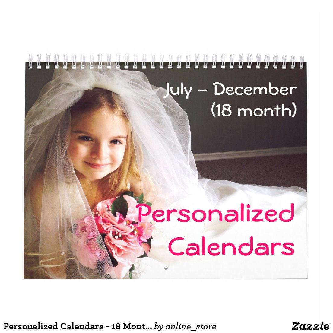 Personalized Calendars 18 Month Calendar
