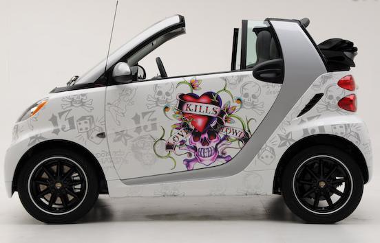 Ed Hardy Branded Smart Cars