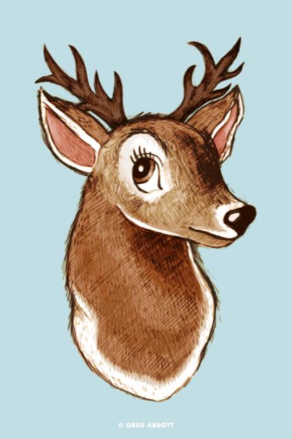 Deer by Greg Abbott