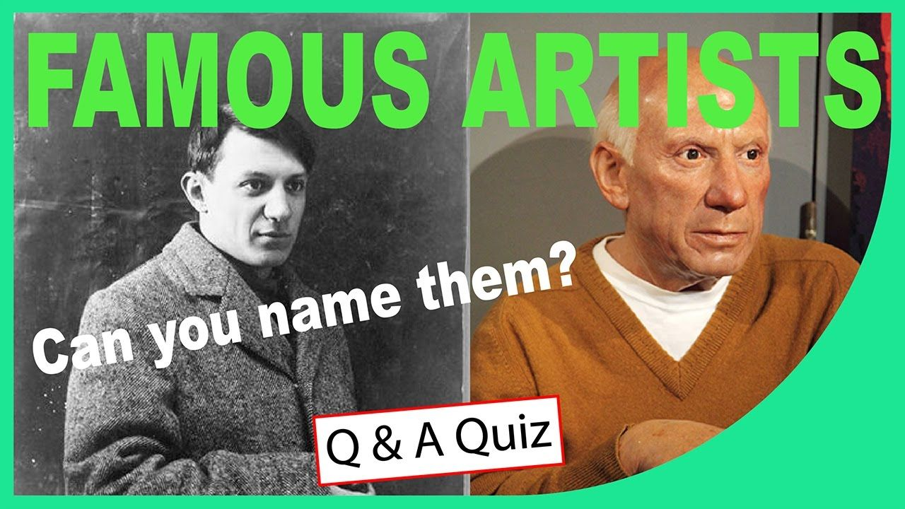 Famous Artists Can You Name Them From The Images Quick Quiz Q Sta Famous Artists Artist Image